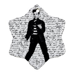 Elvis Snowflake Ornament (Two Sides)