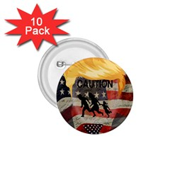 Caution 1.75  Buttons (10 pack)