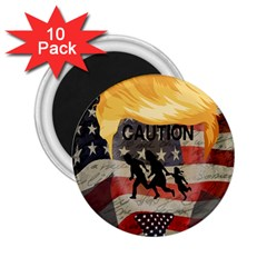 Caution 2.25  Magnets (10 pack)