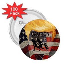 Caution 2.25  Buttons (100 pack)
