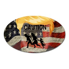 Caution Oval Magnet