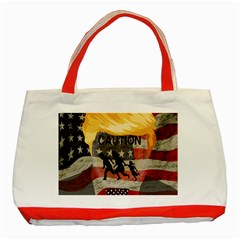 Caution Classic Tote Bag (Red)