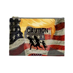 Caution Cosmetic Bag (Large)