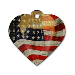 American president Dog Tag Heart (Two Sides)