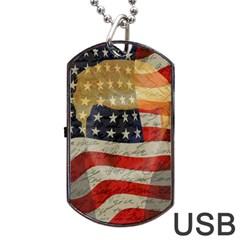 American president Dog Tag USB Flash (One Side)