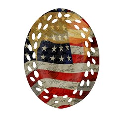 American president Oval Filigree Ornament (Two Sides)