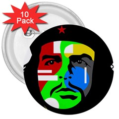 Che Guevara 3  Buttons (10 pack)