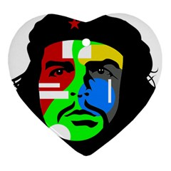 Che Guevara Heart Ornament (Two Sides)