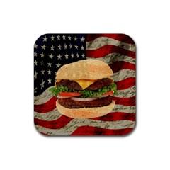 Hamburger Rubber Coaster (Square)