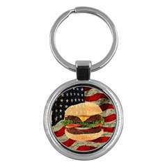Hamburger Key Chains (Round)