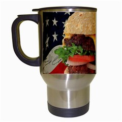 Hamburger Travel Mugs (White)