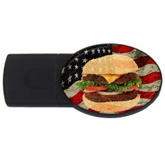 Hamburger USB Flash Drive Oval (4 GB)