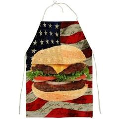 Hamburger Full Print Aprons