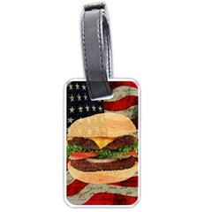 Hamburger Luggage Tags (One Side)