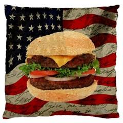 Hamburger Large Cushion Case (One Side)