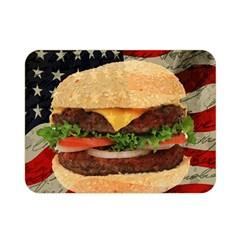 Hamburger Double Sided Flano Blanket (Mini)