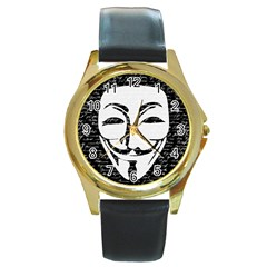 Antonymous   Round Gold Metal Watch