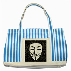Antonymous   Striped Blue Tote Bag