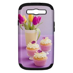 Decorated cupcakes Samsung Galaxy S III Hardshell Case (PC+Silicone)