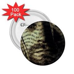 Kurt Cobain 2.25  Buttons (100 pack)