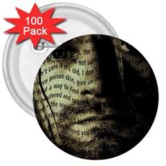 Kurt Cobain 3  Buttons (100 pack)