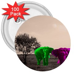 Africa  3  Buttons (100 pack)