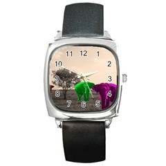 Africa  Square Metal Watch