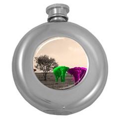 Africa  Round Hip Flask (5 Oz)