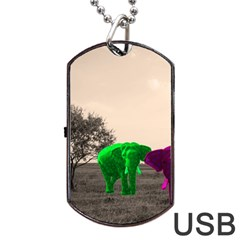 Africa  Dog Tag USB Flash (Two Sides)