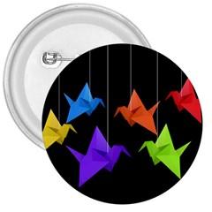 Paper cranes 3  Buttons