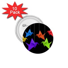 Paper cranes 1.75  Buttons (10 pack)