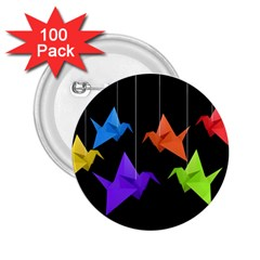 Paper cranes 2.25  Buttons (100 pack)