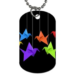 Paper cranes Dog Tag (Two Sides)