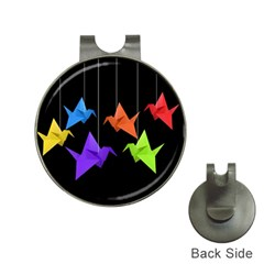 Paper cranes Hat Clips with Golf Markers