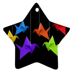 Paper cranes Star Ornament (Two Sides)