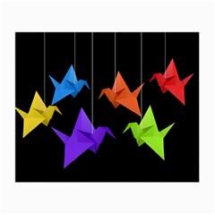 Paper cranes Small Glasses Cloth (2-Side)
