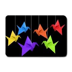 Paper cranes Small Doormat