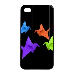Paper cranes Apple iPhone 4/4s Seamless Case (Black)