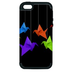 Paper cranes Apple iPhone 5 Hardshell Case (PC+Silicone)