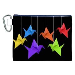 Paper cranes Canvas Cosmetic Bag (XXL)