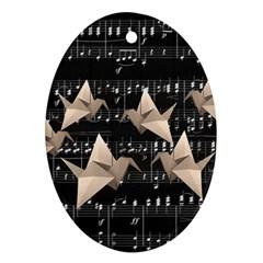 Paper cranes Ornament (Oval)