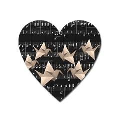 Paper cranes Heart Magnet