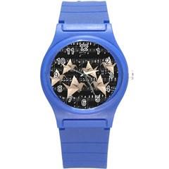 Paper cranes Round Plastic Sport Watch (S)