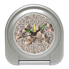Paper cranes Travel Alarm Clocks