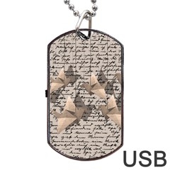 Paper cranes Dog Tag USB Flash (Two Sides)