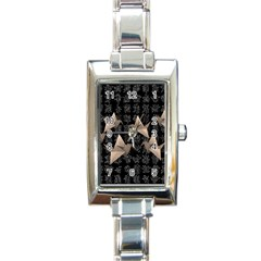 Paper cranes Rectangle Italian Charm Watch