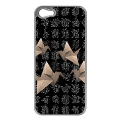 Paper cranes Apple iPhone 5 Case (Silver)
