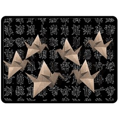 Paper cranes Double Sided Fleece Blanket (Large)