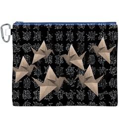 Paper cranes Canvas Cosmetic Bag (XXXL)