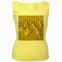 Paper cranes Women s Yellow Tank Top